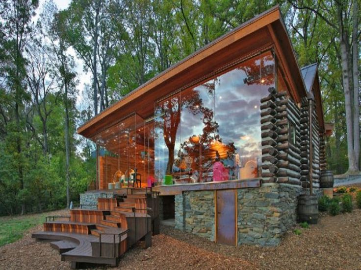 Log Cabin Syrup Bottles 1776 Modern Glass Log Cabin, contemporary ...