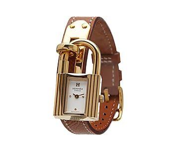 Horloge Kelly, goud/bruin, L 17,5 cm