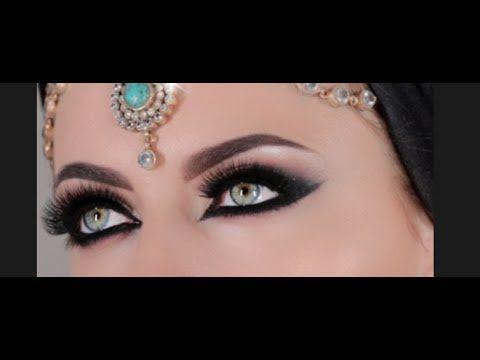 "An ""Arab"" inspired liner-heavy look. This uses lower lashes, as well. Also, her eyes are freaking amazing."