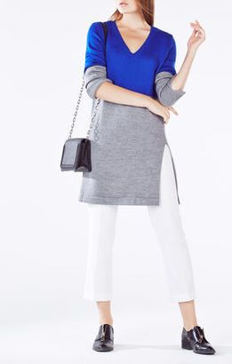 Macki Color-Blocked Tunic Sweater - Shop for women's Sweater - BLUE SAPPHIRE COMBO Sweater