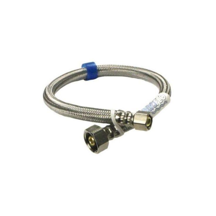 "ProFlo PFX146354 72"" Dishwasher Water Supply Hose Stainless Steel Accessory Dishwasher Hose Assembly"