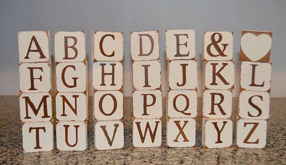 Custom Letter Blocks/Wooden Alphabet