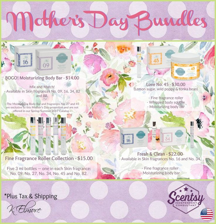 Scentsy's Mother's Day Bundles (Spring 2017)