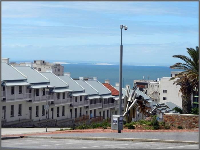 The very steep Donkin Street in Port Elizabeth, South Africa