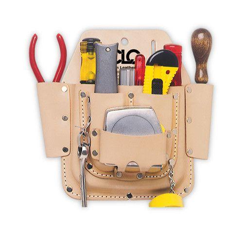 Custom Leathercraft CLC 6 Pocket Top Grain Leather Electrician Tool Belt Pouch | eBay