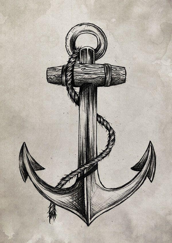 Картинки татуировки якоря