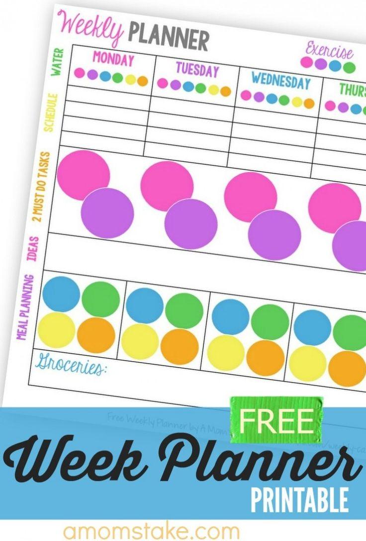make weekly calendar