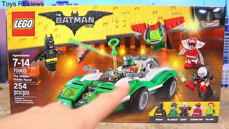 """Lego Batman Movie Riddler Riddle Racer Robin Superhero Fights Kite Man Calendar Man and Magpie Legos Lego Batman Movie Riddler Riddle Racer with Robin superhero fighting Kite Man and Calendar Man with Magpie Legos by ToysReviewToys. Lego Movie Batman and Robin find Riddler at the Haunted Mansion. Batman is eaten by a giant plant led by Kite Man. Calendar Man refuses to fight. Lego Movie Batman fights the Riddler and Magpie Legos. This video is made by the """"ToysReviewToys"""" channel in…"""