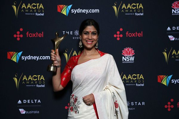 Sakshi Tanwar Photos - Sakshi Tanwar poses with an AACTA Award on behalf of Dangal for Best Asian Film Presented By PR Asia during the 7th AACTA Awards Presented by Foxtel | Ceremony at The Star on December 6, 2017 in Sydney, Australia. - 7th AACTA Awards Presented by Foxtel | Media Room