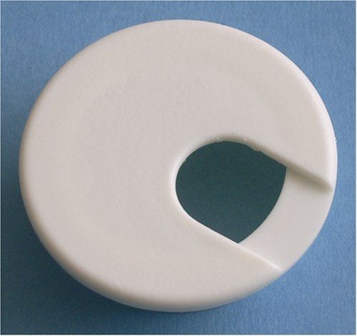 "2"" White Desk Grommet (5 Pack) by Bainbridge. $8.80. 2"" white desk grommet. Fits in 2"" round hole. Package of 5."