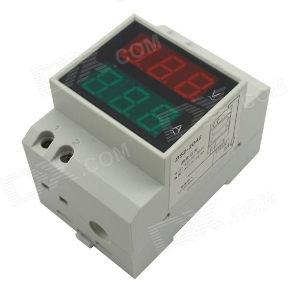 "0.5"" LED Air Switch Type / Guide Rail Type Digital Dual Display AC Voltmeter…"