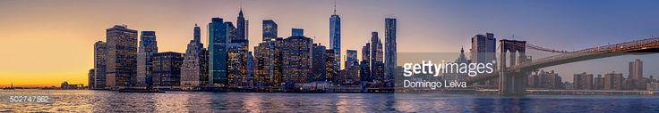 Stock Photo : Brooklyn Bridge And Manhattan Skyline