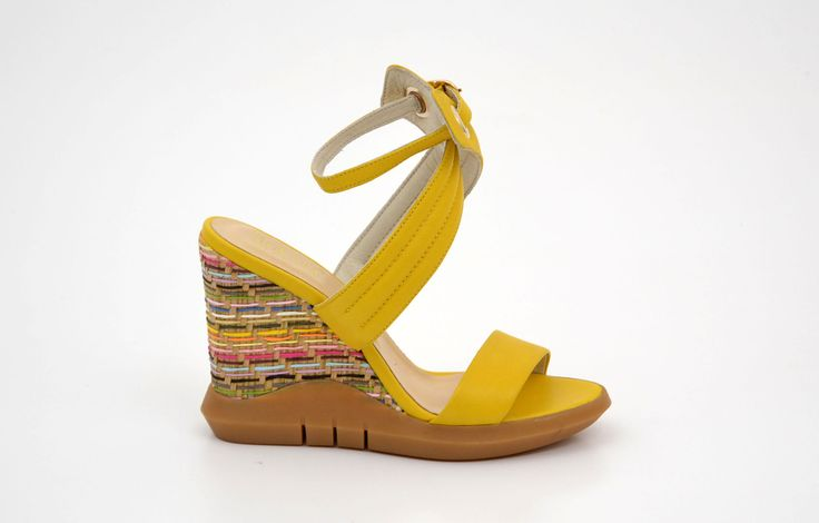 Sandale damă casual galbene din piele naturală - Femei / Sandale casual - GiAnni