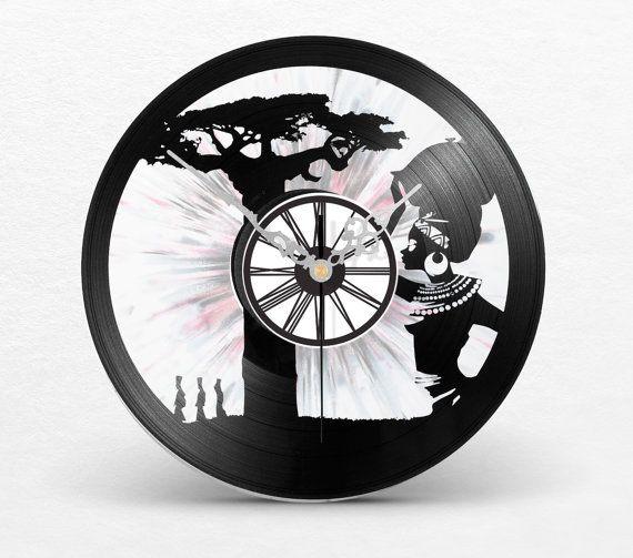 Uhr Uhr Wand Vinyl Afrika / / Afrika Musik / / von LaDiskuiterie