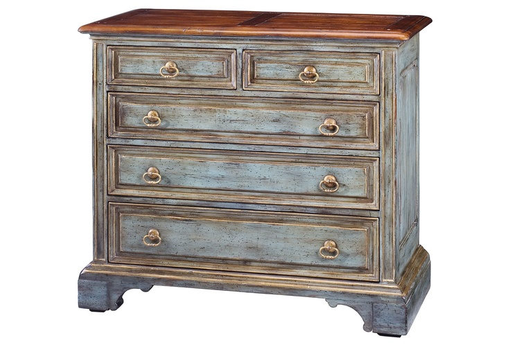 Sarreid Furniture  Chest Of Five Drawers, Blue  $1,279.00: Paintings Furniture, Fitzgerald 5 Drawers, One King Lane, 5Drawer Chest,  Commode, Fitzgerald 5Drawer, Furniture Ideas, Bedrooms Furniture, 5 Drawers Chest