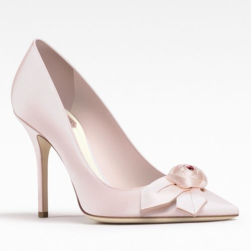 Christian Dior Satin Round-Toe Pumps outlet best seller XbGVmgDRx