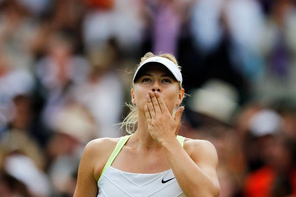 Maria Sharapova Photos - Maria Sharapova of Russia celebrates match point during her Ladies' singles third round match against Su-Wei Hsieh of Taipei on day five of the Wimbledon Lawn Tennis Championships at the All England Lawn Tennis and Croquet Club on June 29, 2012 in London, England. - The Championships - Wimbledon 2012: Day Five