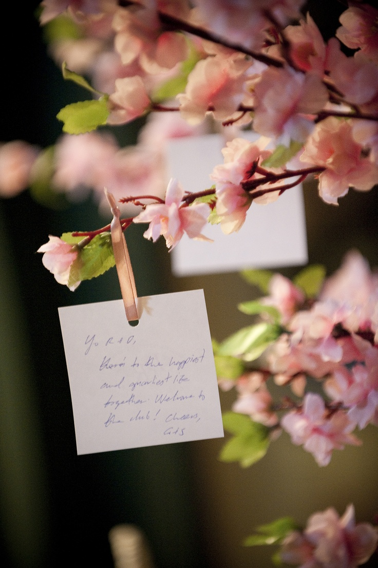 This cherry blossom wishing tree is perfect for an asian themed wedding. www.elysiumweddings.net
