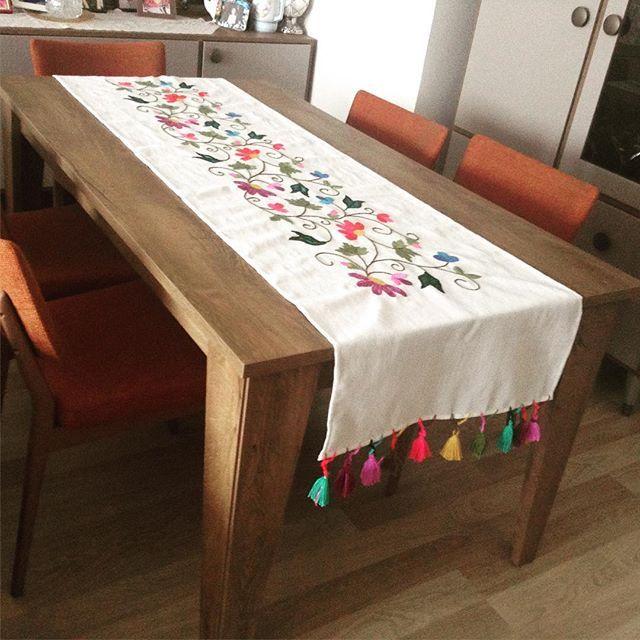 Runner masa örtüsü 60*210cm el yapımı #handmade #çeyiz #hediyelik #elyapımı #sipariş #crossstitch