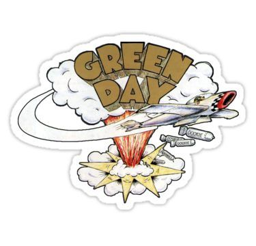 Green Day S Dookie Logo Sticker By Ccensored In 2021 Green Day Dookie Green Day Tattoo Logo Sticker