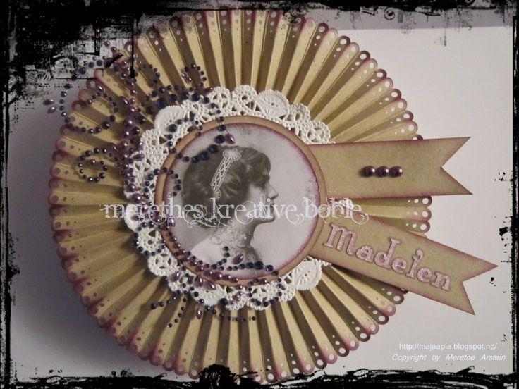 Merethes Kreative Boble: Vintage Rosettkortboks