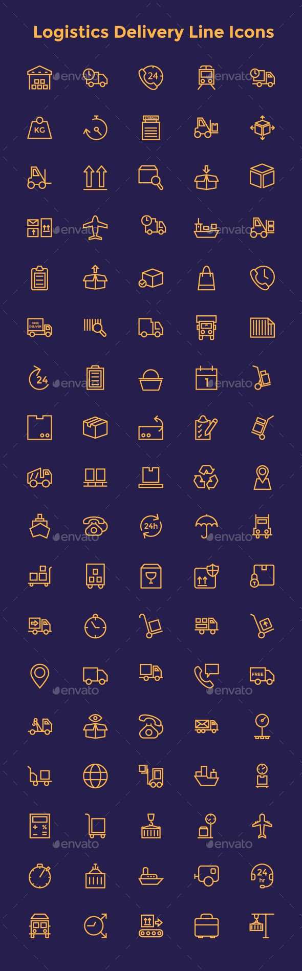 Logistics Delivery Line Icons #design Download: http://graphicriver.net/item/logistics-delivery-line-icons/14296760?ref=ksioks