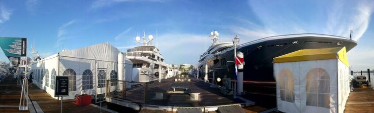 Kismet the 233 ft Yacht at the Palm Beach Boat Show