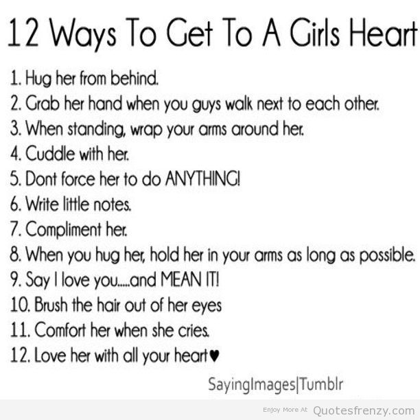 Guy Quotes For Instagram Bio: 12 Ways To Get A Girls Heart... Guys Pay Attention To This