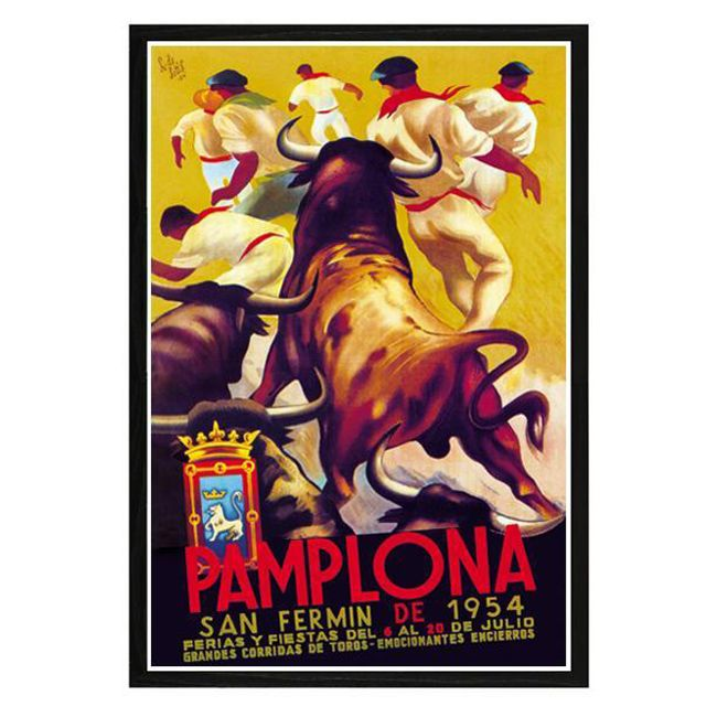 'Pamploma' Framed Print Art