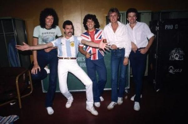 Группа Queen и Диего Марадона, Буэнос–Айрес, 1981