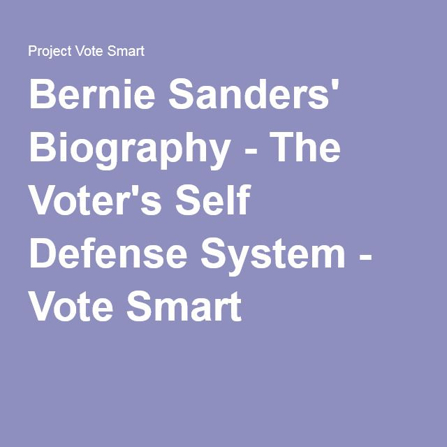 Bernie Sanders' Biography - The Voter's Self Defense System - Vote Smart