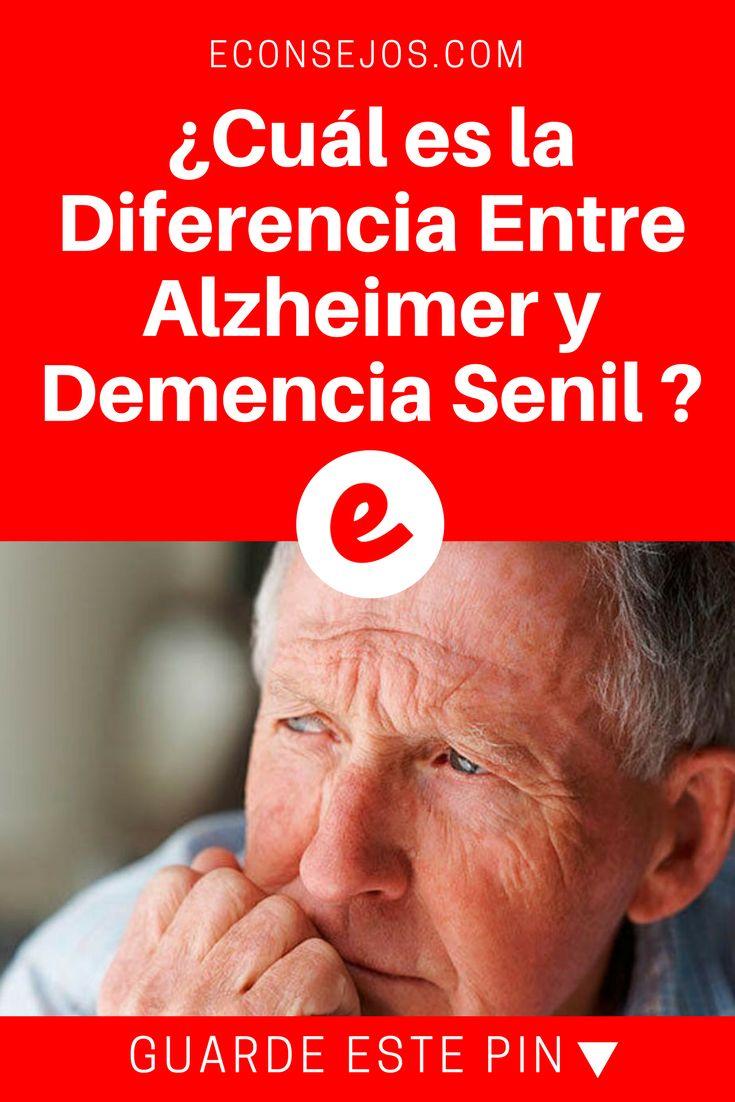 Alzheimer sintomas | ¿Cual es la Diferencia Entre Alzheimer y Demencia Senil ? | Existe una gran diferencia entre Alzheimer y demencia senil, no son enfermedades iguales aunque muchas personas las suele confundir.