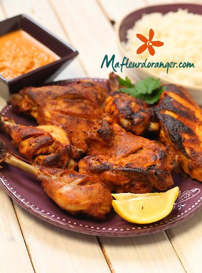 Cuisine indienne : Poulet tandoori et sa sauce épicée