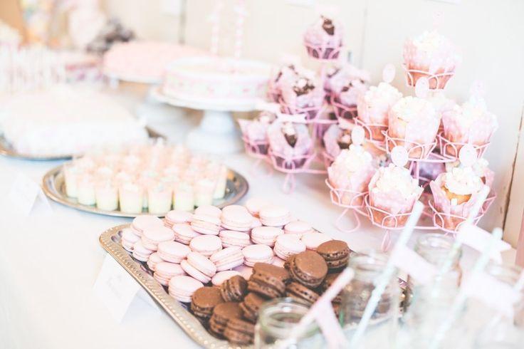 Idag fick vi första albumet med bilder från fotografen, så fina. Här är alltså bilderna från buffé-bordet. 3 olika sorters tårtor, godis-buffé, popcornmuggar, kokosbollar, ahlgrens pannacotta, oreo cakepops, choklad-cupcakes, vanilj-cupcakes, jordgubbs-macarones, nutella-macarones, pink lemonade, jo