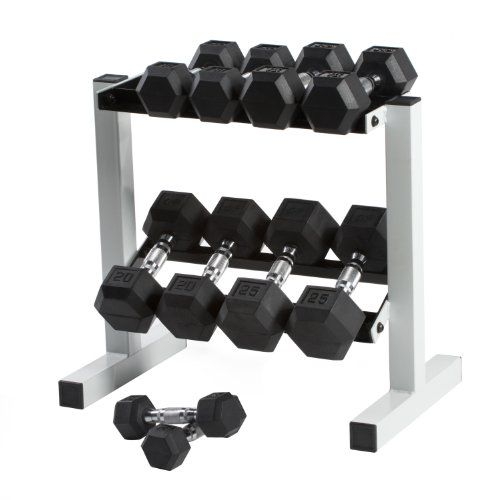 Cap Barbell Rubber Hex Dumbbell Set, 150-Pound - http://www.getadjustabledumbbells.com/storage-rack-dumbbells/cap-barbell-rubber-hex-dumbbell-set-150-pound/