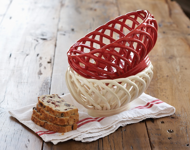 Ceramic Bread Baskets; place in the oven for a few minutes; remove and place your fresh bread or buns inside; the ceramic  baskets retain heat and keep your bread/buns toasty warm!!