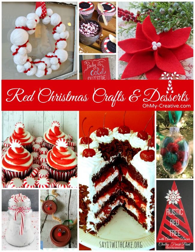 Red Christmas Crafts & Desserts - OhMy-Creative.com