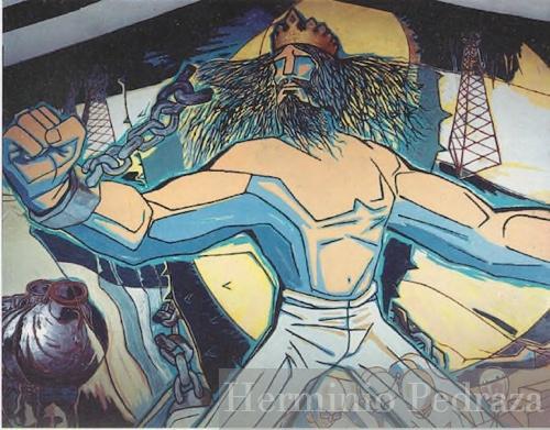 """Mural """"Rompiendo Cadenas"""" Comite Pro Santa Cruz"""