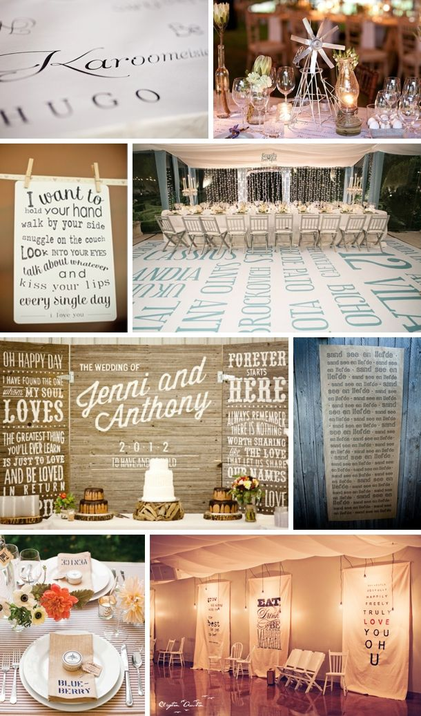 southboundbride words wedding decor reception 68 best B images on Pinterest