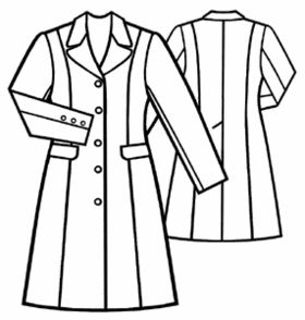 Free Sewing Pattern: #5074 Classic-Style Short Coat.