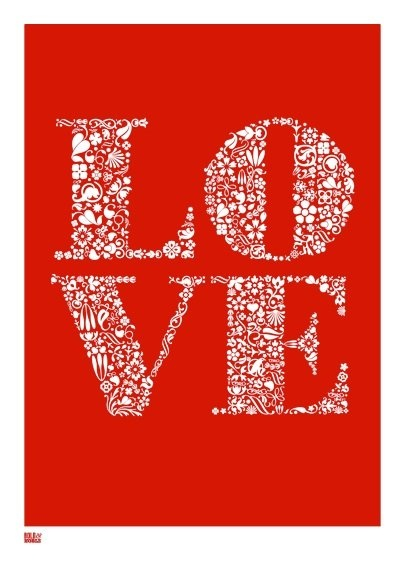 Bold and Noble Love Print, $74.95