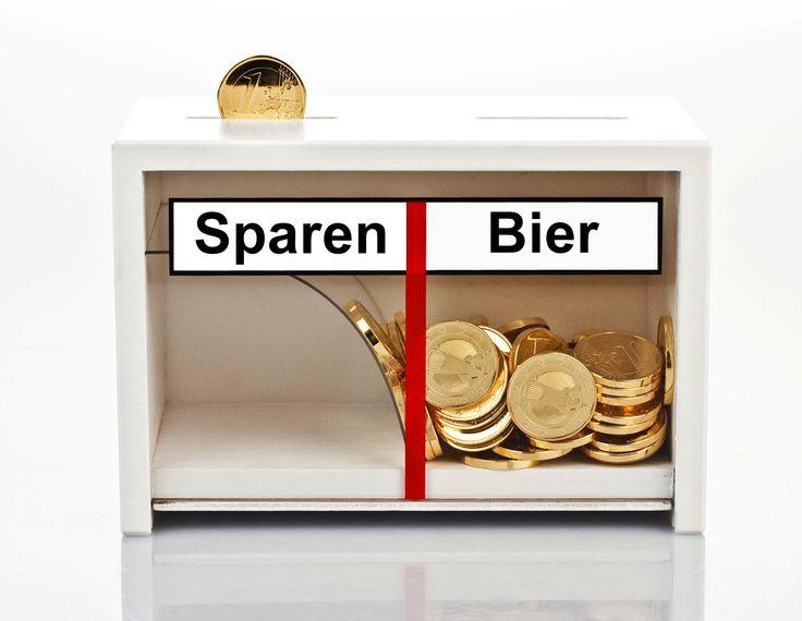 Lustige Spardose Bier für Biertrinker. :) Warum sparen, wenn man Bier trinken kann ;)