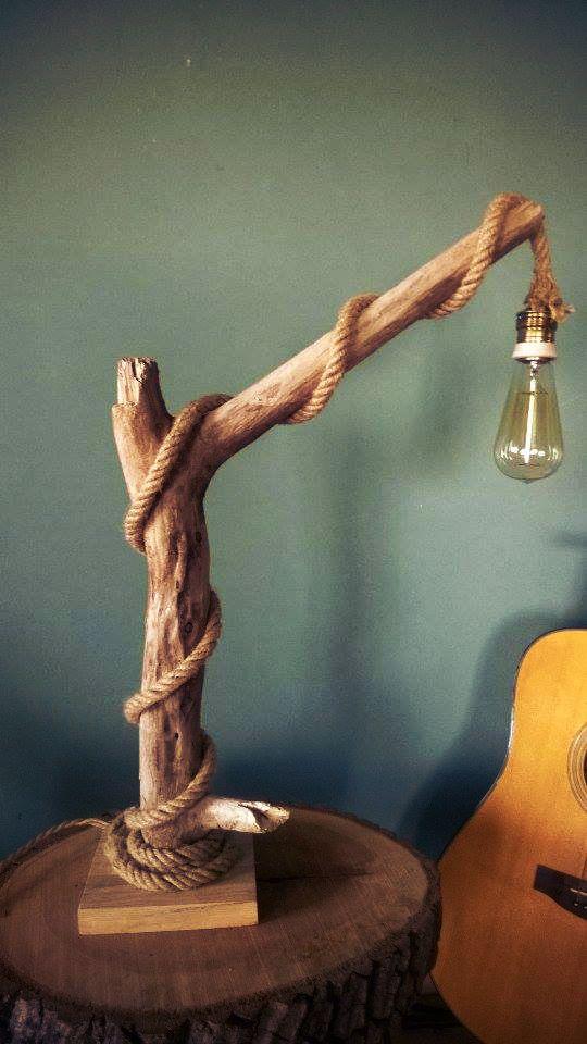Halatlı Vintage Ağaç Lamba. 232501 | zet.com