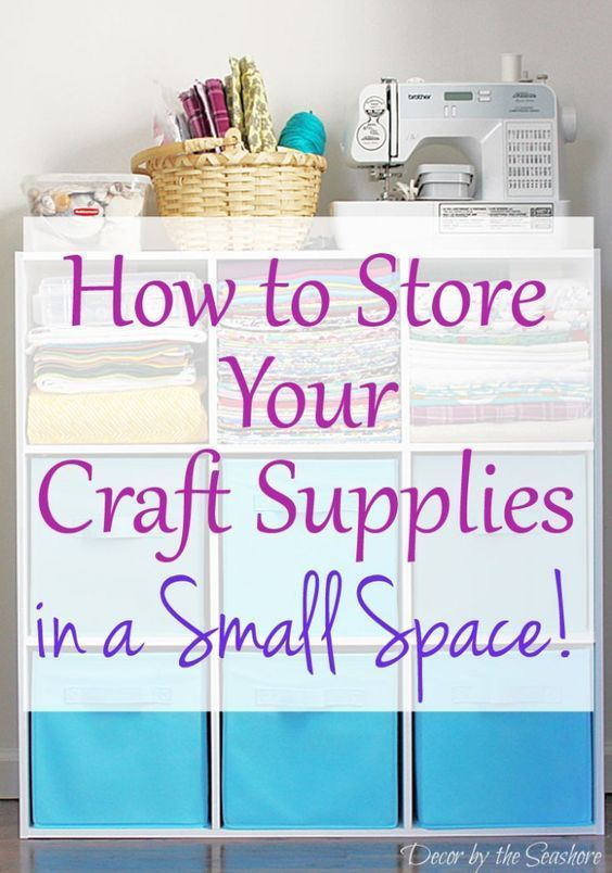 I've never even thought of storing craft supplies like this. I have the tiniest place to store my craft supplies, so this is the perfect solution for organizing craft supplies in my little space! Just what I needed! | decorbytheseashore.com