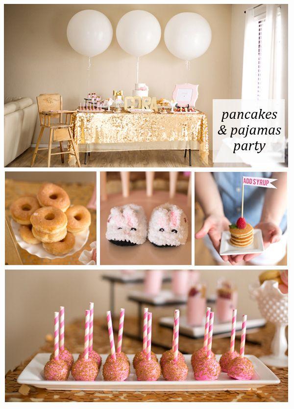 Pancakes and Pajamas Party - Caroline's first birthday?!