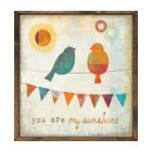 """""""You Are My Sunshine"""" Square Reclaimed Wood Wall Art - Transitional - Prints And Posters - by Kathy Kuo Home"""