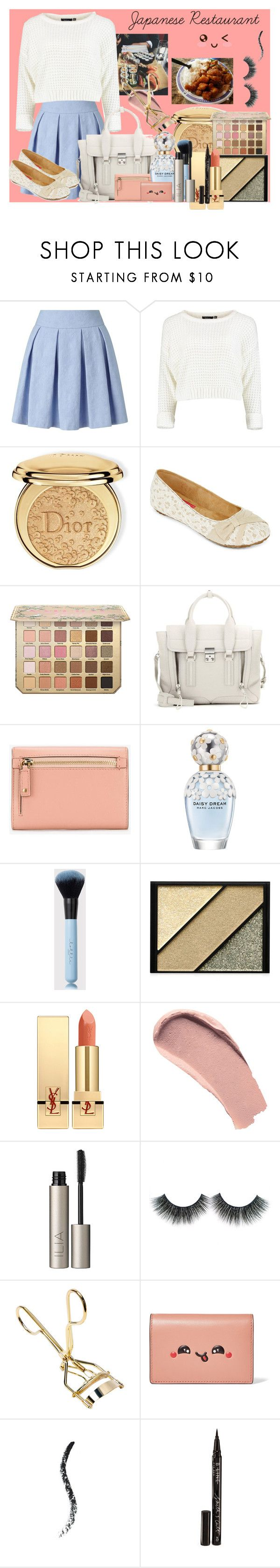 """Japanese Restaurant"" by pocketfullofglitter ❤ liked on Polyvore featuring GET LOST, Miss Selfridge, Christian Dior, POP, 3.1 Phillip Lim, Anya Hindmarch, Marc Jacobs, Elizabeth Arden, Yves Saint Laurent and Burberry"