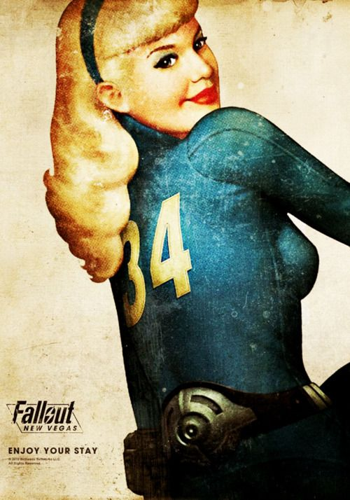Fallout New Vegas - Retro Style Poster :; A majority of our relationship has been Casey playing this..lol @Casey Dalene Meyer