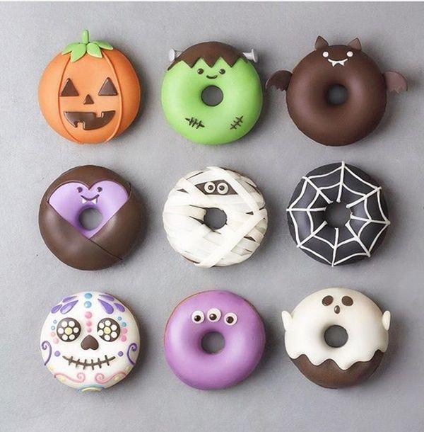 Dulces Encantadores Para Halloween Decopeques Comida De Halloween Postres Coloridos Halloween Comida Recetas