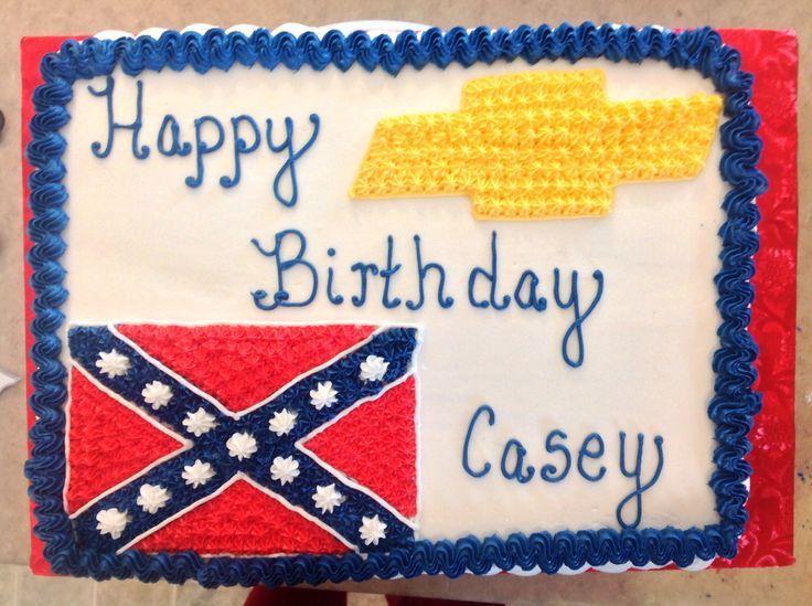 Chevy Logo Cake | Rebel flag/ Chevy emblem cake